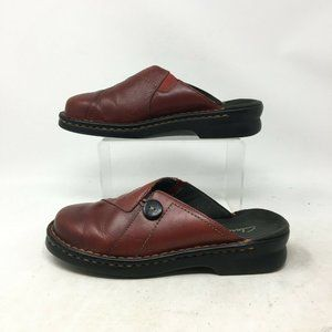 Clarks Clog Mules Slip On Comfort Shoes Closed Toe